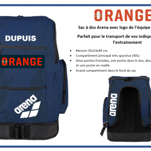 sac à dos Club Orange