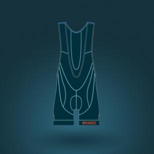 Club-orange-BIB-ELITE-CBEM-6000-MEN-front-homme