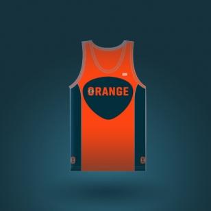 Club-orange-CYCLING-SINGLET-CTW-3500-WOMEN-front-femme