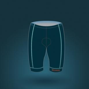 Club-orange-CYCLING-shorts-CSM-4000-man-front-homme